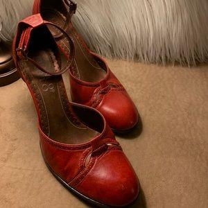 Franco Sarto Vintage ankle strap pump.